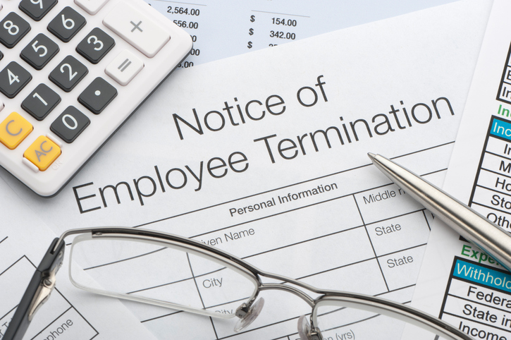 notice of employee termination paper